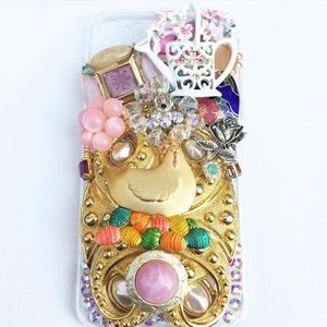IPhone 7 or 8 bling bedazzled ooak phone case